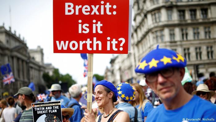 Großbritannien - EU-Befürworter demontrieren in London