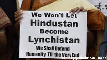 Indien - Protest gegen Hass und Mob Lynchen