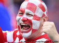 Болельщик хорватской сборной