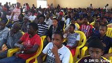 14.7.2018**** in Mamou Panel: welche Zukunft für die Jugend in Guinea Publikum der Debatte 77% in Mamou, Guinea