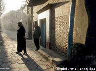 Uigures musulmanes en la localidad de Kashgar.