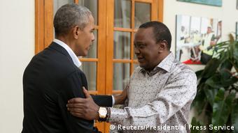 Kenia Treffen Uhuru Kenyatta mit Barack Obama