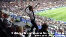 Russland WM 2018 Frankreich gegen Kroatien | Macron flippt aus (picture alliance/dpa/Russian Presidential Press and Information Office/A. Nikolsky)