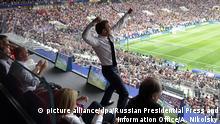 Russland WM 2018 Frankreich gegen Kroatien | Macron flippt aus