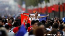 Soccer Football - World Cup - Final - France vs Croatia - Paris, France, July 15, 2018 - France fans celebrate on the Champs-Elysees avenue after France win the World Cup . REUTERS/Charles Platiau