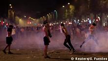 Soccer Football - World Cup - Final - France vs Croatia - Paris, France, July 15, 2018 - France fans are seen during clashes on the Champs-Elysees avenue after France win the Soccer World Cup final. REUTERS/Gonzalo Fuentes