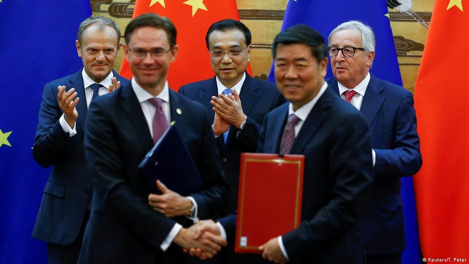Peking EU China Treffen Tusk Li Keqiang Juncker