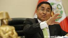 Peru Cesar Hinostroza Präsident Oberster Gerichtshof