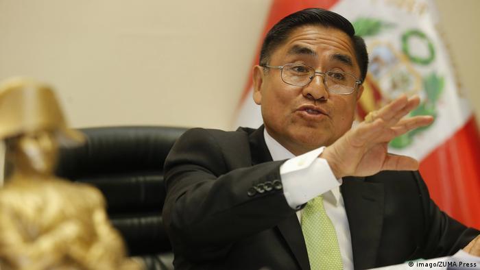 Peru Cesar Hinostroza Präsident Oberster Gerichtshof (imago/ZUMA Press)