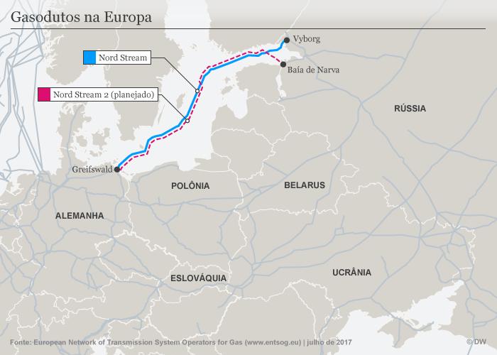 Infografik Karte Gaspipelines Europa Nord Stream PT