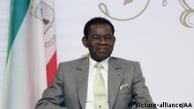 Äthiopien Teodoro Obiang Nguema Präsident von Equatorial Guinea in Addis Abeba