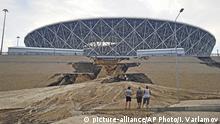 Russland Wolgograd Arena Erdrutsch