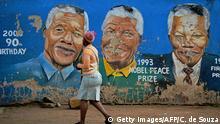 Johannesburg Soweto Township Mandela Wandbild