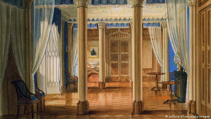 Райнхардсбрунн на акварели 1845/46 гг.