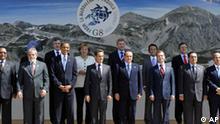 G8 Gipfel in L`Aquila, Italien: G8- und G5-Regierungschefs