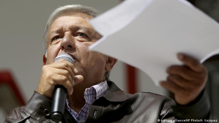 Mexiko Präsident Andres Manuel Lopez Obrador (picture-alliance/AP Photo/A. Vazquez)