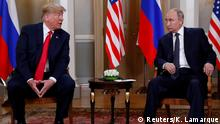 U.S. President Donald Trump meets with Russia's President Vladimir Putin in Helsinki, Finland, July 16, 2018. REUTERS/Kevin Lamarque