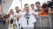 Cristiano Ronaldo Ankunft in Turin
