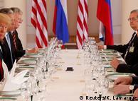 Після зустрічі віч-на-віч Трамп та Путін з членами делегацій розпочали робочий обід