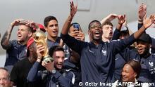 Frankreich empfängt seine Weltmeister