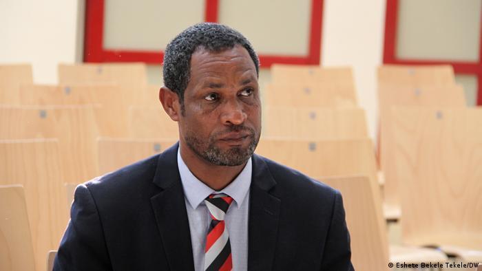 Deutschland Äthiopiens Oromo federalist congress | Dejene Taffa (Eshete Bekele Tekele/DW)