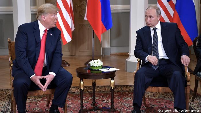 Finnland Helsinki PK Treffen Trump Putin (picture-alliance/Zumapress)