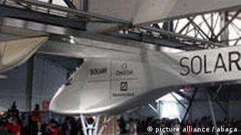 The plane in the hanger