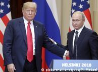 Дональд Трамп та Володимир Путін під час зустрічі у Гельсінкі, 16 липня 2018 року