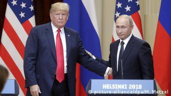 Путин и Трамп на встрече в Хельсинки