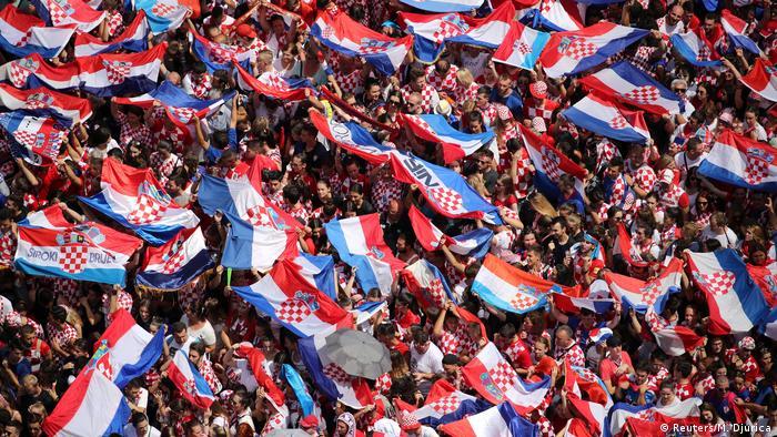 Kroatien Kroaten bereiten den Vizeweltmeistern begeisterten Empfang