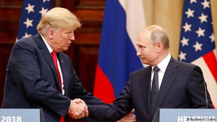 Trump e Putin em Helsinque