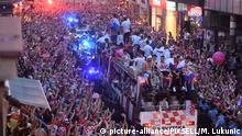 Croatian soccer team's homecoming in Zagreb, Croatia (picture-alliance/PIXSELL/M. Lukunic)