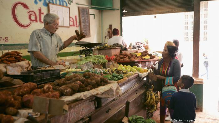 Vegetable trader in Havana