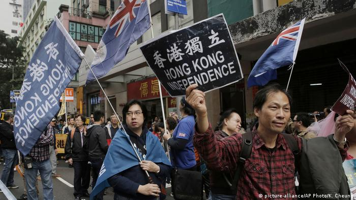Hong Kong - Pro- Unabhängigkeitsprotest (picture-alliance/AP Photo/K. Cheung)