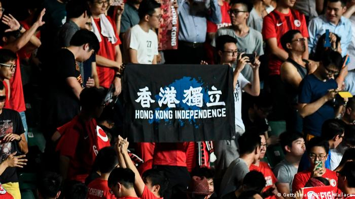 Hong Kong - Pro- Unabhängigkeitsprotest (Getty Images/AFP/A. Wallace)