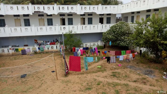 A hostel for textile workers in Tamil Nadu in India