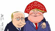 Putin and Trump cartoon