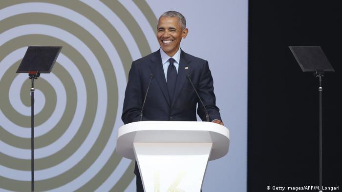 Barack Obama em Joanesburgo