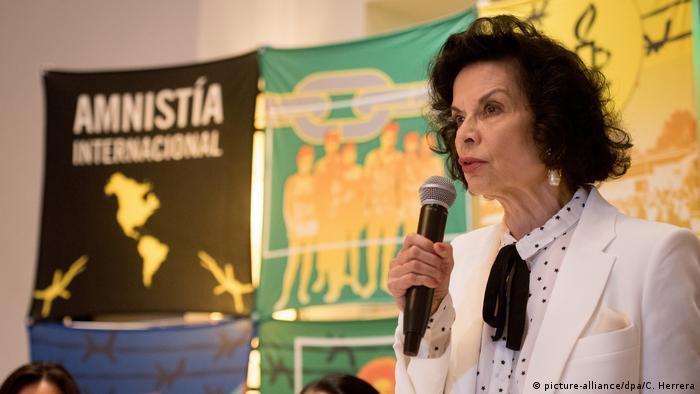 Nicaragua Bianca Jagger (picture-alliance/dpa/C. Herrera)