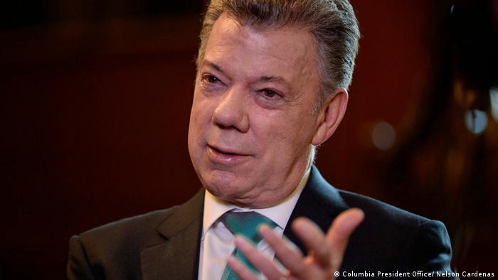 DW Conflictzone Juan Manuel Santos (Columbia President Office/ Nelson Cardenas)