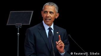 Südafrika Barak Obama (Reuters/S. Sibeko)