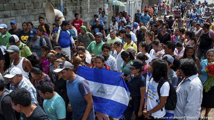 Manifestación en Masaya, Nicaragua.
