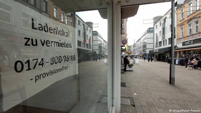 Oberhausen Fußgängerzone Marktstraße Krise