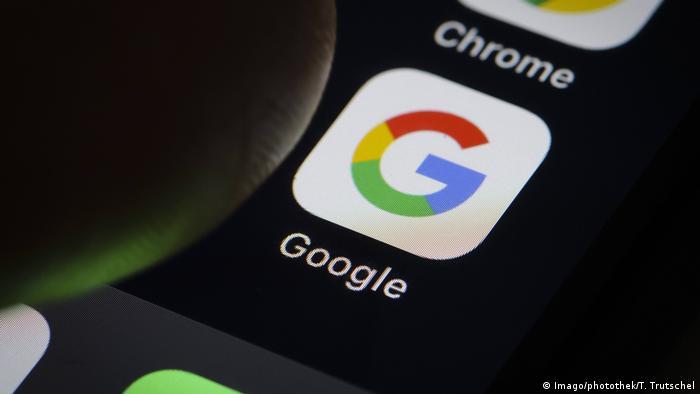 Die App der Suchmaschine Google auf Smartphone