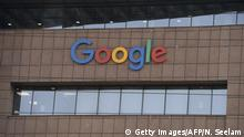 The Google logo is pictured on the side of the Google India office building in Hyderabad on March 23, 2018. / AFP PHOTO / NOAH SEELAM (Photo credit should read NOAH SEELAM/AFP/Getty Images)