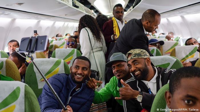 Äthiopien Addis Abeba Ethiopian Airlines neuer Linienflug nach Eritrea