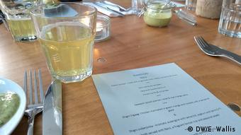 A detail of the menu at Arawelo Eats, Somali Supper Club in Bristol