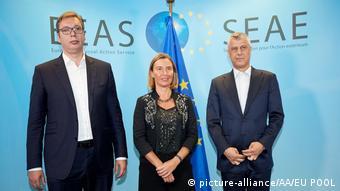 SEAE Mogherini - Vucic - Thaci -Treffen in Brüssel