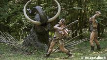 Neandertaler Jagt auf Mammut