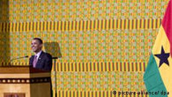 Obama in Ghana Rede im Parlament